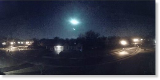 meteor fireball over Delaware