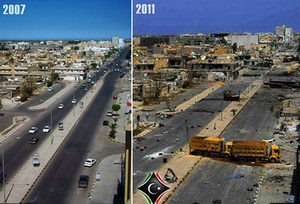 Libya before after NATO