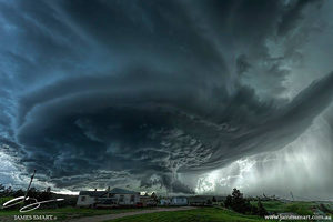 South Dakota supercell near Blackhawk on June 1st 2015