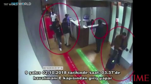 Turkish authorities released what they claim is video of the Saudi assassination team that killed Khashoggi