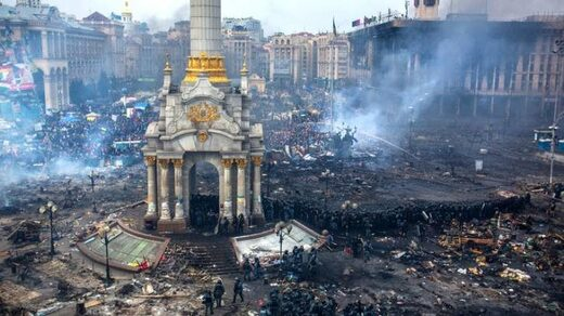 maidan square burnt out