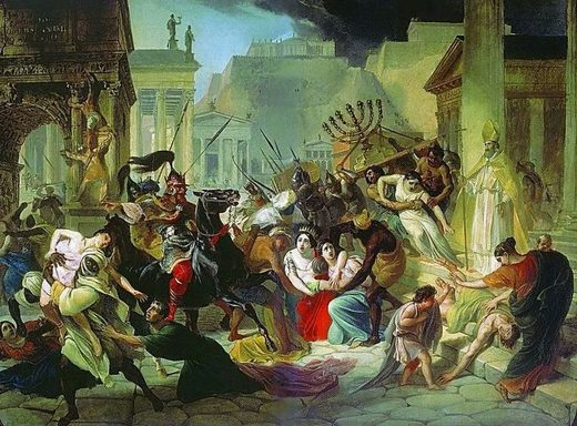 Gajzerihova pljačka Rima, slika Karla Brijulova iz 1836.