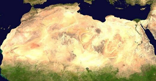 sahara desert greening vegetation