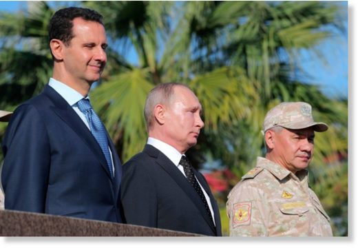 Assad Putin Shoigu