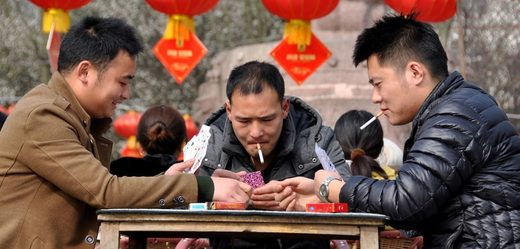 chinese men smoking
