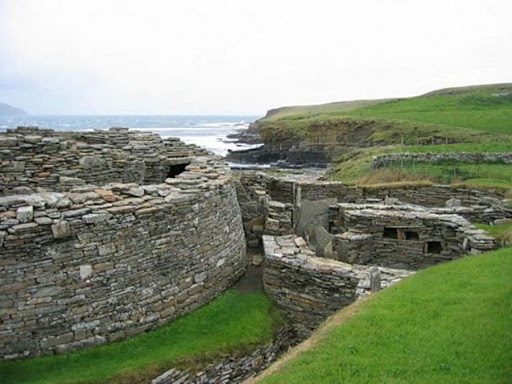 The Knap of Howar,  one of the oldest Neolithic complexes Orkney, Scotland