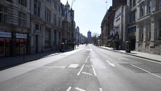 empty london lockdown