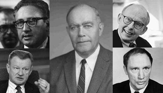 Rhodes Scholar William Yandall Elliot Sir Kissinger, Zbigniew Brzezinski Samuel Huntington Pierre Trudeau and Pierre Trudeau