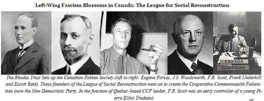rhodes scholars fabian society left wing fascism canada